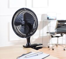 Daewoo BLACK Portable Office & Home Air Cool Small 6'' Clip on Desktop Desk Fan