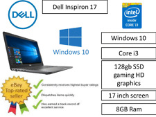 Dell inspiron 17 core i3 4005U 1.70ghz 8gb ram 128gb ssd gaming hd graphics 17""
