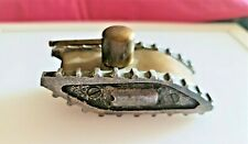 More details for authentic ww1 piece of trench art  aluminium & brass tank (c.1917) child's toy?