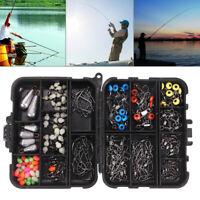 177Pcs Fishing Accessories Set With Tackle Box Fishhook Swivels Ball Float