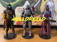 Destiny 2 Game Ghaul Zavala Ikora 3 Figure Lot Bungie Warlock Statue Set