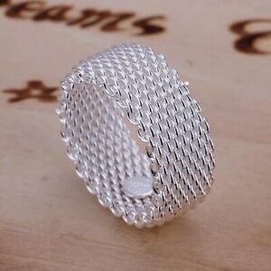 Gorgeous Women Lady Wedding Beautiful Festival Gifts Silver Color Ring Trendy Je