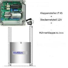 elektronischer Pförtner für Hühner- Enten- Gänse - mit Hühnerklappe 30 x 40 cm