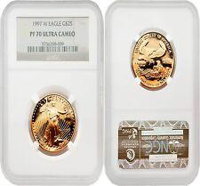 USA 1997W Eagle $25 1/2 oz Gold Coin NGC PF70 ULTRA CAMEO