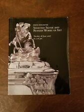 Sotheby's Russian Silver Antique Enamel Fabergé Catalog Rare!! June 2007