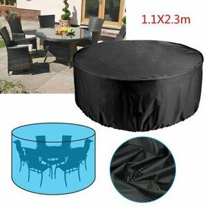 Garden Patio Round Cover Waterproof Dustproof Table Chair Furniture Outdoor New