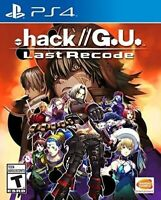 PLAYSTATION 4 PS4 VIDEO GAME .HACK // G.U. LAST RECODE BRAND NEW AND SEALED