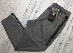 NEW! SPYDER Active ProWeb Fleece Joggers Sweatpants Men XL Zip Ankle Reflect NWT