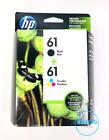 2-PACK HP GENUINE 61 BLACK & TRI-COLOR INK DESKJET 3050 3521 NEW 2021