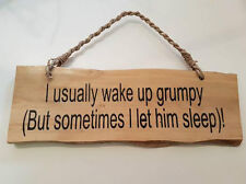 WOODEN NOVELTY HANGING SIGN FUNNY JOKE HANGING SIGN QUOTE GARDEN HOME GIFT