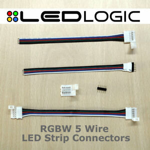 RGBW 5 Wire LED Strip Connectors