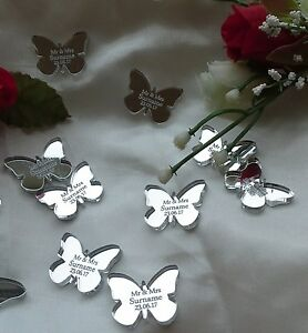 Personalised Butterfly Wedding Favours x50 Table Decorations Scatters Confetti