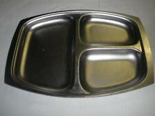 LOVELY STAINLESS STEEL SERVING 3 COMPARTMENT TRAY