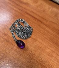 "Trollbeads Silver Fantasy Necklace with Amethyst 60cm ( 23.6in "" ) Tagfa -00027"