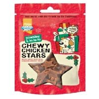 CHEWY CHICKEN STARS - (65g pack) - Pawsley Christmas Dog Treats bp XMas Pet Food