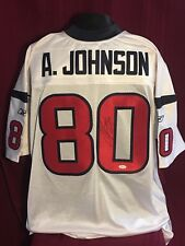 Andre Johnson #80 Signed Autographed Houston Texans Reebok On Field Jersey JSA