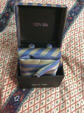 MEN'S SILK TIE WITH CUFFLINKS AND POCKET SQUARE. BRAND NEW IN BOX!