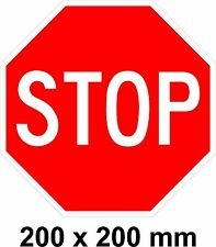 STOP Sign - Novelty Sticker/Decal - 200 x 200 mm - Easy Apply