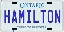 Hamilton Ontario Canada Aluminum License Plate
