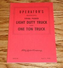1946 Ford Light Duty and One Ton Truck Owners Operators Manual 46