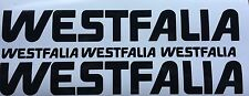 WESTFALIA STICKERS X5--------T25 T4 T5 T3 POPTOP CAMPERVAN VW DUB AIR COOLED