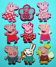 Peppa Pig Cake Toppers 9 Cupcake Decorations Shoe Charms Favours Charms NEW