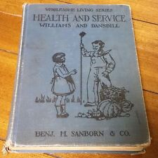 Vintage Textbook Wholesome Living Series Health and Service 1939 Williams