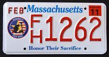 MASSACHUSETTS FALLEN HEROES SACRIFICE AR15 MA Military Specialty License Plate