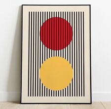 Retro Shapes Art Print, Minimal Art Print, Abstract Print, Contemporary Art