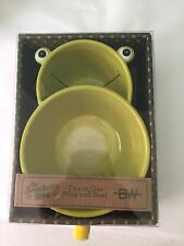 2 In 1 Soup Bowl Snackable Mug Cup Boston Warehouse NEW Crackers Frog Handle