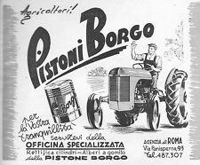 PUBBLICITA' 1951 TRATTORE FERGUSON AGRICOLTURA  PISTONE BORGO OFFICINA ROMA
