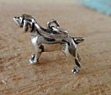 Sterling Silver 13x18mm German shorthair Pointer Brittany Spaniel Dog Charm