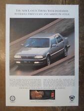 LANCIA THEMA INVITO A TEST DRIVE ORIG 1992 UK Opuscolo Vendite Mkt opuscolo