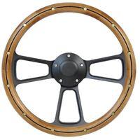 Volkswagen Alderwood & Black Steering Wheel Kit 1960-1973 VW Bug  Kharmann Ghia