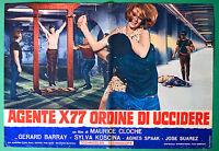 T14 Fotobusta Agent X77 Orden Von zu Töten Maurice Cloche Agnes Spaak Barray