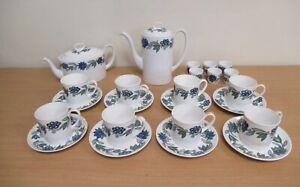 Susie Cooper Art Nouveau Blue Bone China Teaset (C816)