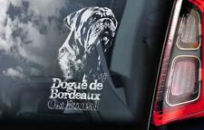 DOGUE DE BORDEAUX Car Sticker, French Mastiff Dog Window Bumper Decal Gift - V03