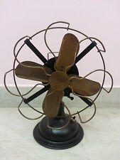 Oscillating Table Fan in Brass~Copy of Starting Edtion Fans in 1886 used W/Btry.