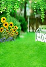 3x5Ft Green Flower Sunflower Photography Backgrounds Photo Backdrops