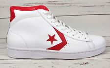 b8ef3ae174f527 Converse Pro Leather 76 Mid Mens Size 11 White Casino Red 157426C Shoes New