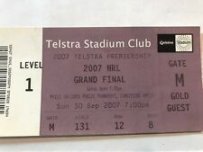 NRL Grand Final Match Used Ticket 2007- Manly vs Melbourne Storm - FREE  P&H