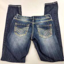 Hydraulic Womens Juniors 5/6 Jeans Dark Blue Denim Vikki Super Skinny Stretch AJ