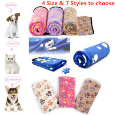Soft Warm Pet Blanket Cat Dog Puppy Bed Mat Paw Print Sofa Cushion Sleep Mat