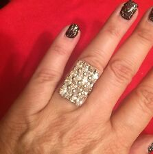 HSN Solid 925 Cz Huge Pave Engagement Ring Sz 7 Sold Out!