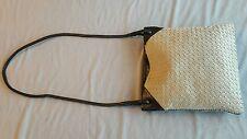 BOTTEGA VENETA Intecciato canvas w/ black Leather Crossbody style Handbag
