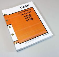 Case 1700 1737 1740 Uni Loader Skidsteer Service Repair Technical Shop Manual