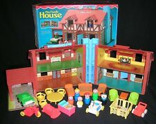 VTG Fisher Price Little People TUDOR #952 Play Family House ~ Accessories ~ Box
