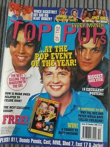 Top Of The Pops Magazine October 1996  Spice Girls Peter Andre 911 East 17