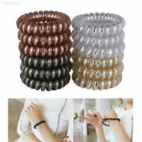 12pc Simple Women Girl Elastic Rubber Hairband Hair Ties Spiral Rubber Rope Hot!