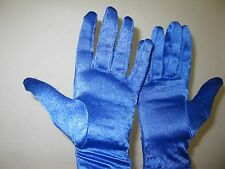 BLUE nylon/spandex gloves Costume Accessory. worn in Branson Follies show.